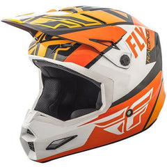 Fly Racing Elite Guild Helmet Helmet Fly Racing Orange/White/Black X-Small