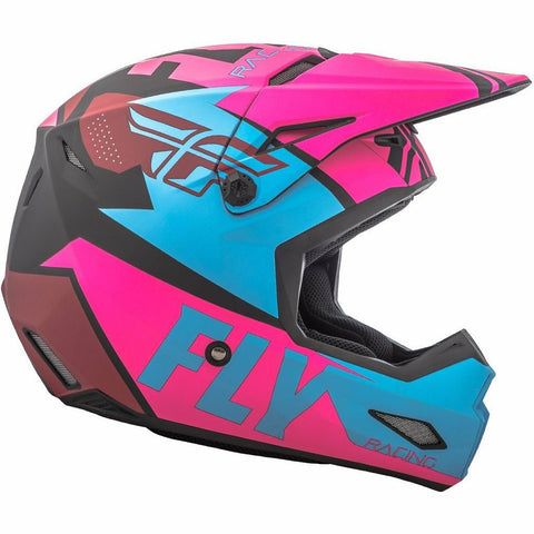 Matte Neon Pink/Blue/Black Side