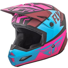Fly Racing Elite Guild Helmet Helmet Fly Racing Matte Neon Pink/Blue/Black X-Small