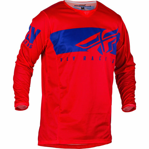 Fly Racing 2019.5 Kinetic Mesh Shield Jersey Jersey Fly Racing RED/BLUE YX