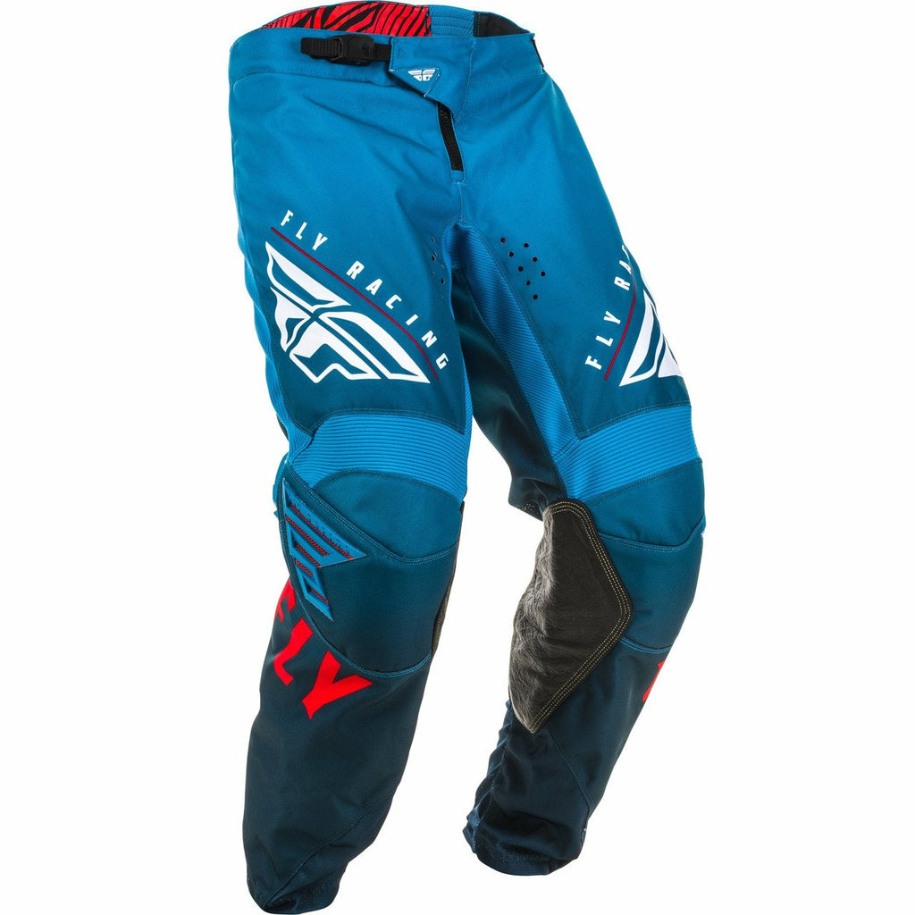 Fly Racing Youth Kinetic K220 Pants Fly Racing Off-Road Blue/White/Red 18