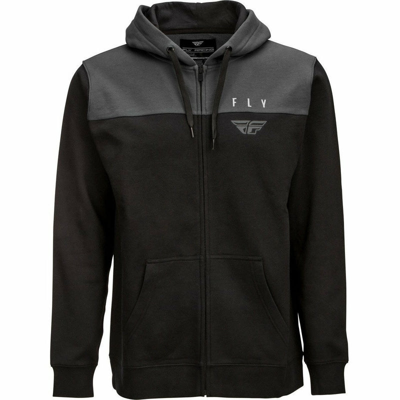 Fly Racing Horizontal Zip Up Hoodie 21 Fly Racing 2021 BLACK/CHARCOAL 2X