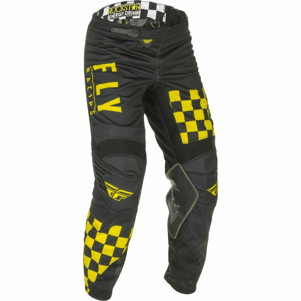 Fly Racing Kinetic Mesh Rockstar Racewear Fly Racing Off-Road Black/Yellow 38