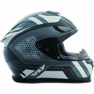 Fly Racing Sentinel Mesh Street Helmet Helmet Fly Racing GREY/WHITE XS