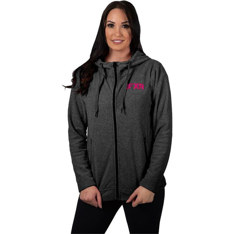 FXR Cozy Fleece Women's Hoodie 2020 Hoodie FXR 2020 Black Heather/Elec Pink XS