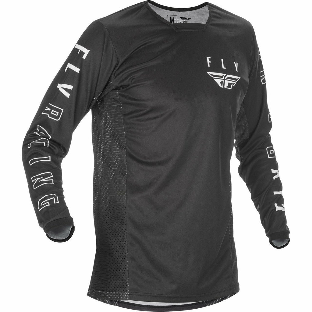 Fly Racing Youth Kinetic K121 Jersey 21 Fly Racing 2021 BLACK/WHITE YL