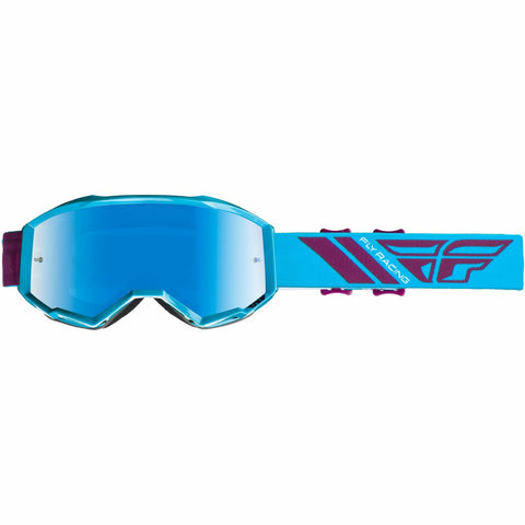 Fly Racing 2019 Zone Goggle Goggles Fly Racing BLUE/PORT W/BLUE MIRROR LENS ADULT
