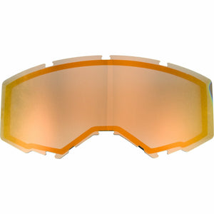 Fly Racing 2019 Zone/Focus Snow Goggle Replacement Non-Vented Lens Accessories Fly Racing ORANGE MIRROR/SMOKE