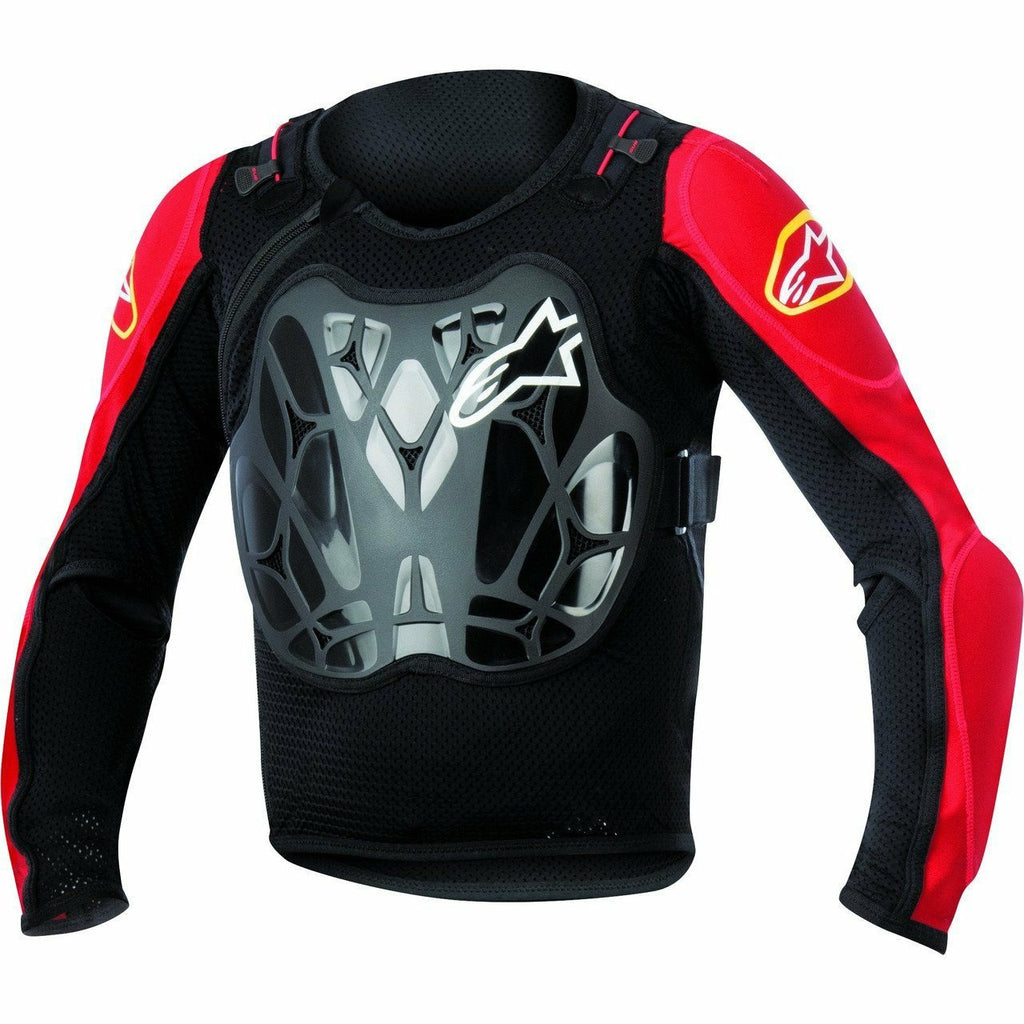 Alpinestars Youth Bionic Jacket Body Armor ALPINESTARS BLACK/RED Ages 8 - 12