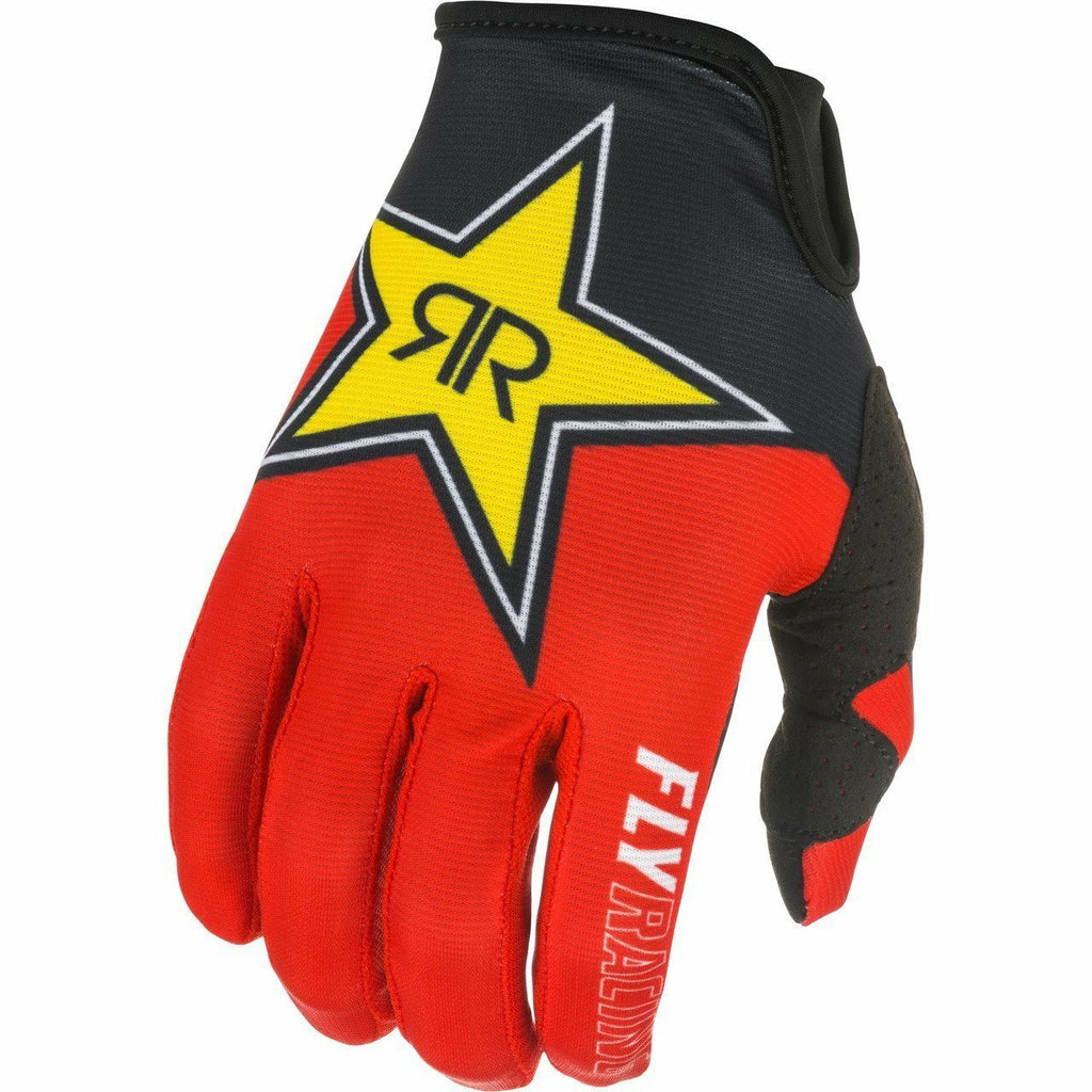 Fly Racing Lite Rockstar Gloves 21 Fly Racing 2021 BLACK/RED/YELLOW 7