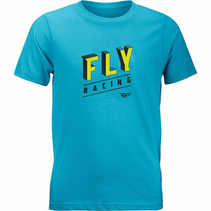 Fly Racing Boy's Dimension Tee 2020 Fly 2020 TURQUOISE YM