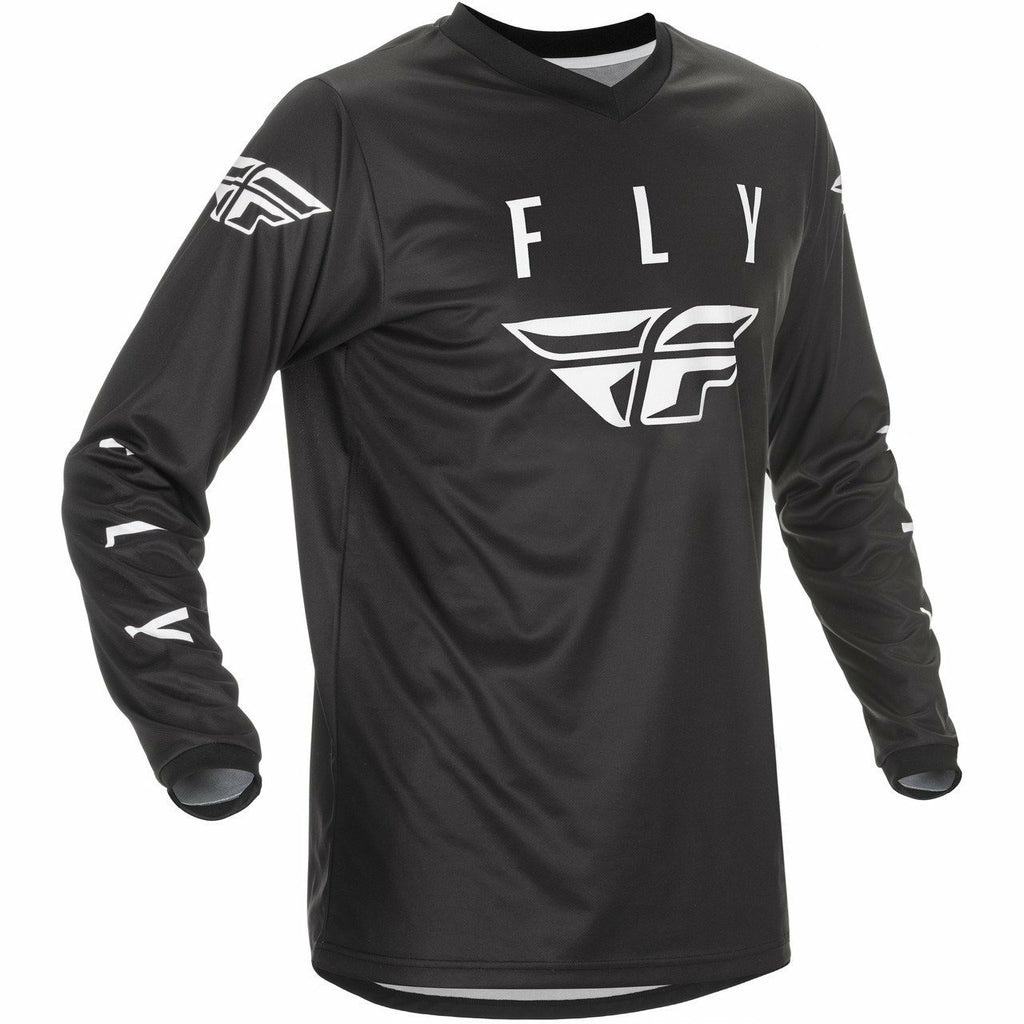 Fly Racing Youth Universal Jersey 21 Fly Racing 2021 BLACK/WHITE YX