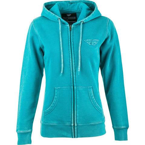 Fly Racing Women's Snow Wash Hoodie Hoodie Fly Racing AQUA 2X