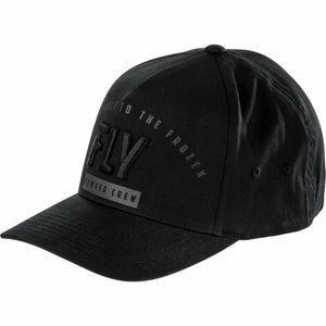 Fly Racing Powder Crew Flex Fit Hat Hat Fly Racing BLACK LG/XL
