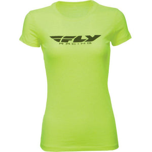 Fly Racing Women's Corporate Tee T-Shirt Fly Racing NEON YELLOW 2X