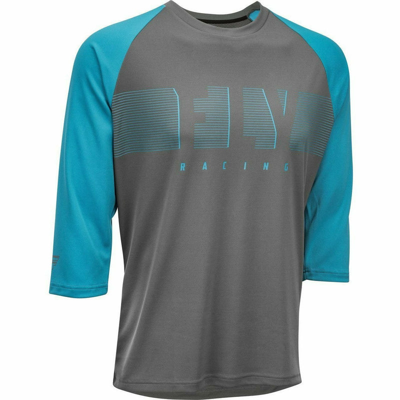 Fly Racing Ripa 3/4 Sleeve Jersey 21 Fly Racing 2021 Blue/Charcoal Grey 21 2X