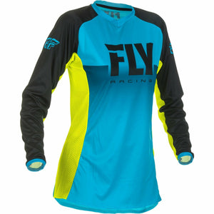 Fly Racing Women's Motocross Lite Jersey Jersey Fly Racing BLUE/HI-VIS MD