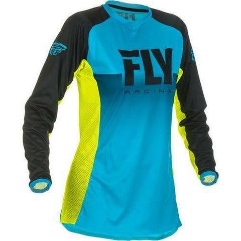 Fly Racing Woman's Lite Jersey Jersey Fly Racing Blue/Hi-Vis Youth Small