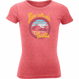 Fly Racing Girl's Dirt Thrills Tee 2020 Fly 2020 NEON PINK HEATHER YL