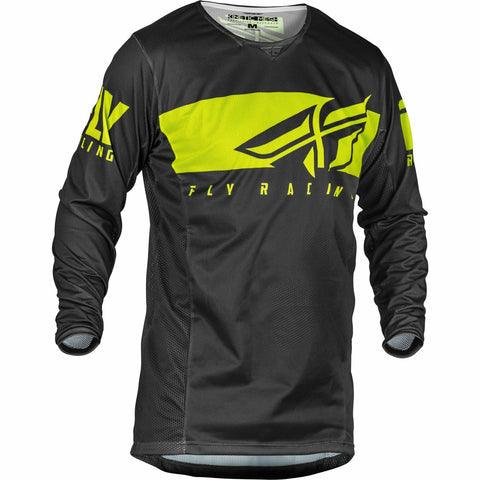 Fly Racing 2019.5 Kinetic Mesh Shield Jersey Jersey Fly Racing GREY/HI-VIS YX