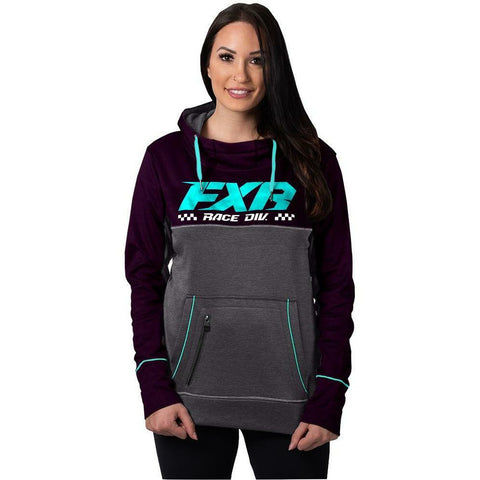 FXR Pursuit Tech Women's Pullover Hoodie 2020 Hoodie FXR 2020 Plum/Sky Blue XS
