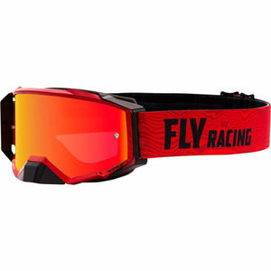Fly Racing Zone Pro Goggle 21 Fly Racing 2021 Red/Black W/Re Mirror/Amber Lens W/Post 21