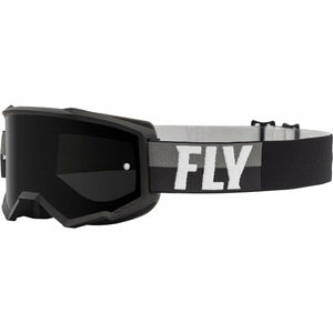 Fly Racing Zone Youth Goggle 21 Fly Racing 2021 Black/White W/Dark Smoke Lens W/Post 21
