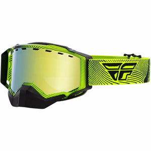 Fly Racing Zone Snow Goggle 21 Fly Racing 2021 Hi-Vis/Black W/Gold Mirror/Rose Lens 21