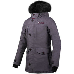 FXR Svalbard Woman's Parka 2020 Jacket FXR 2020 Mid Grey Heather/Plum 2