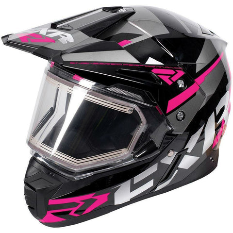 FXR FX-1 Team Helmet- Electric Shield Helmet FXR Black/Fuchsia/Charcoal Small