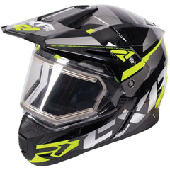 FXR FX-1 Team Helmet- Electric Shield Helmet FXR Black/HiVis/Charcoal Small