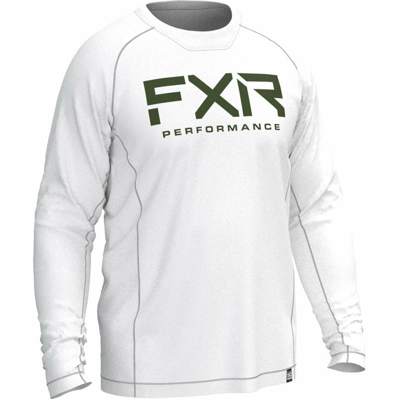 FXR M Attack UPF Longsleeve Casual FXR White/Army S
