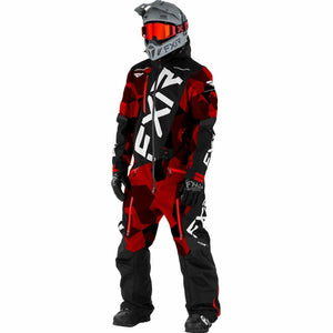 FXR M CX F.A.S.T Ins Monosuit 21 FXR 2021 Blk/Grey/Hi Vis/Nuke Red XS