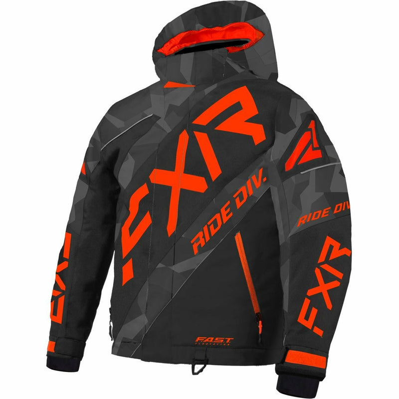 FXR CX Child's Jacket 21 FXR 2021 Char Camo/Black/Lava 2