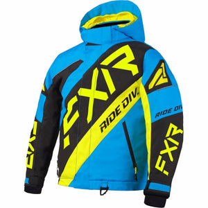 FXR CX Child's Jacket 21 FXR 2021 Blue/Black/Hi Vis 2