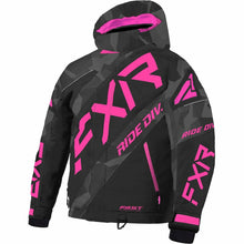 FXR CX Child's Jacket 21 FXR 2021 Char Camo/Black/Elec Pink 2
