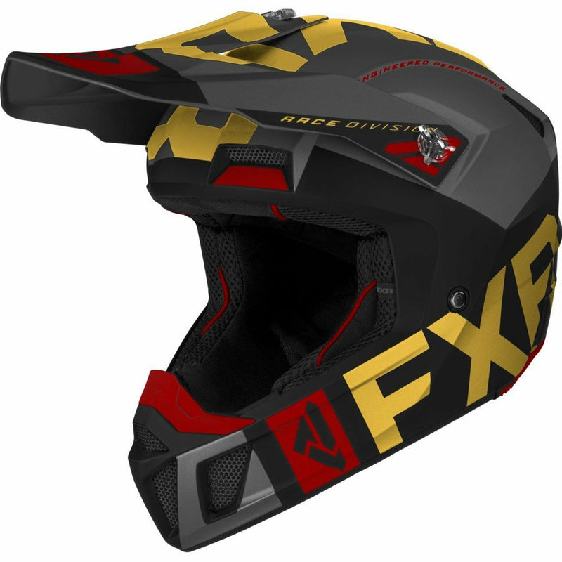 FXR Clutch Evo Helmet 21 FXR 2021 Char/Orange XS