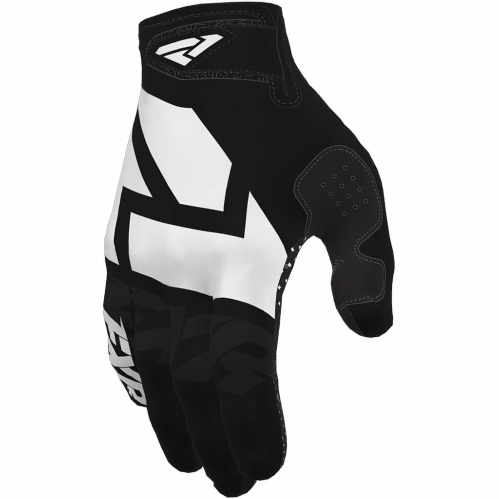 FXR Clutch Strap MX Glove Gloves FXR Black/White S