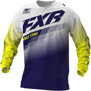 FXR Clutch MX Jersey 21 FXR 2021 White/Navy/Yellow XS
