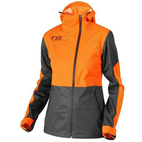 FXR Rush Dual.5 Laminate Women's Jacket | Sale Jacket FXR Charcoal Heather/Elec Tangerine 2
