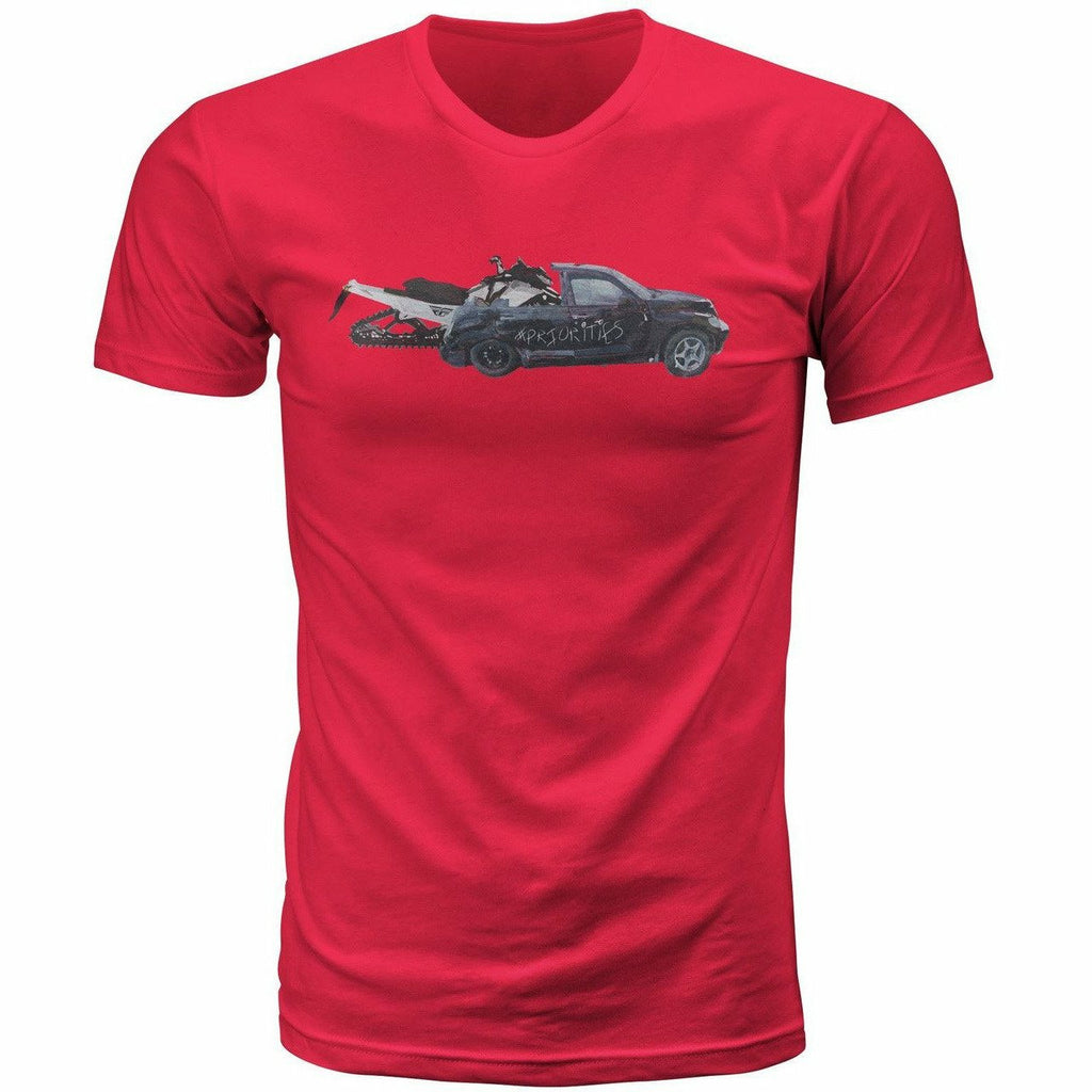 FLY Racing Priorities Tee T-Shirt Fly Racing Red Small