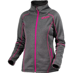 FXR Clipper Sherpa Tech Women's Zip Up Casual FXR Charcoal Heather/Fuchsia 4