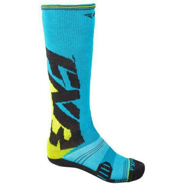 FXR Clutch Performance Mens Sock Footwear FXR Blue/HiVis