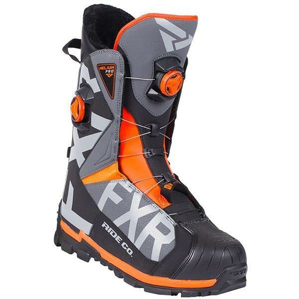 FXR Helium Pro BOA Boot | Clearance Footwear FXR Black/Char/Orange 7\9
