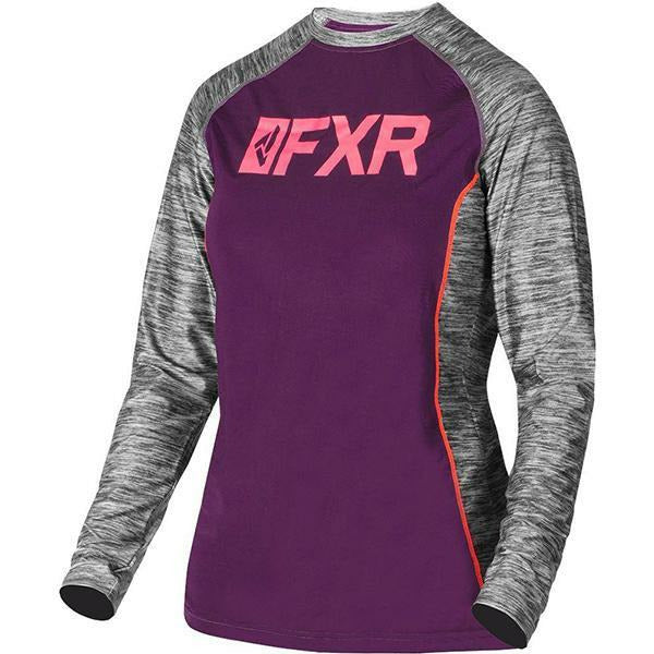 FXR Helium X Women's Tech Long Sleeve | Sale Layers FXR Plum/Coral XS