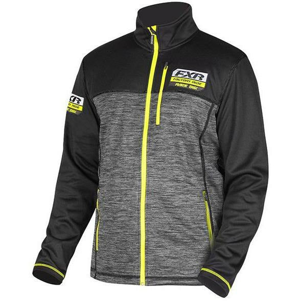 FXR Elevation Tech Mens Zip-Up | Sale Casual FXR Char Heather/Hi Vis S