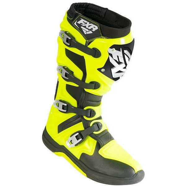 FXR Motocross Factory Ride Boot Footwear FXR Hi-Vis/Black 7\9