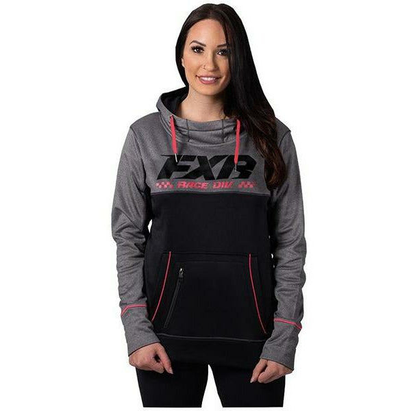 FXR Pursuit Tech Women's Pullover Hoodie 2020 Casual FXR Grey Heather/Coral XS