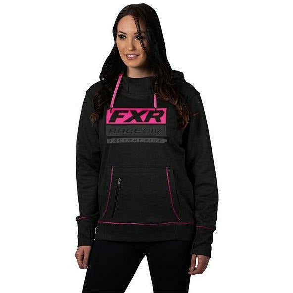 FXR Race Division Tech Women's Pullover Hoodie 2020 Casual FXR Black/Elec Pink XS