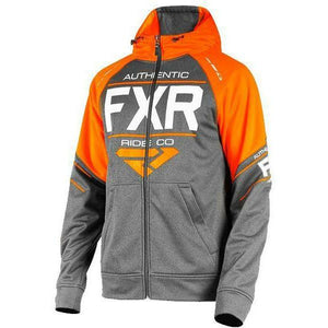 FXR Ride Tech Mens Hoodie Casual FXR Charcoal Heather/Orange medium